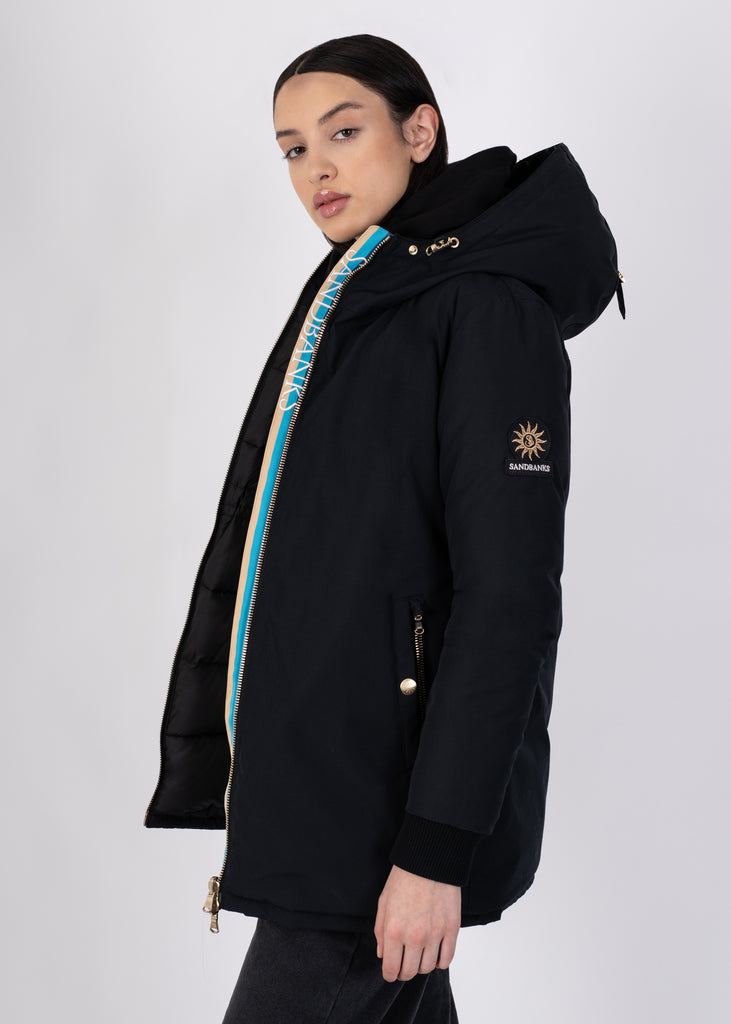 Sandbanks Marina Parka Jacket - Black - sandbanksco.com