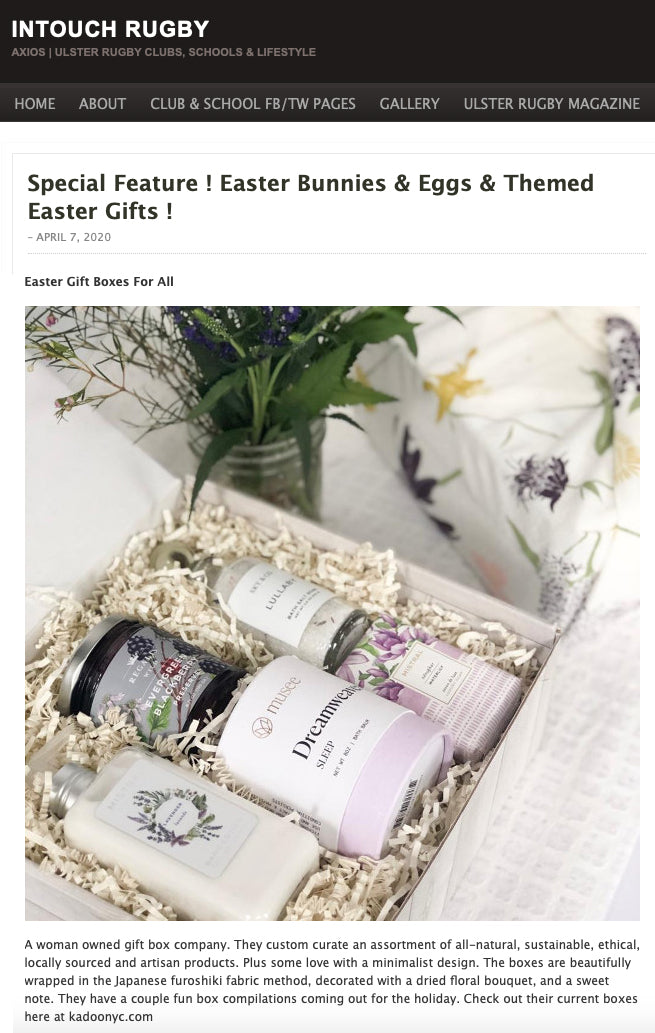 KADOO Press : In Touch Rugby Special Feature Easter Gift Guide 2020