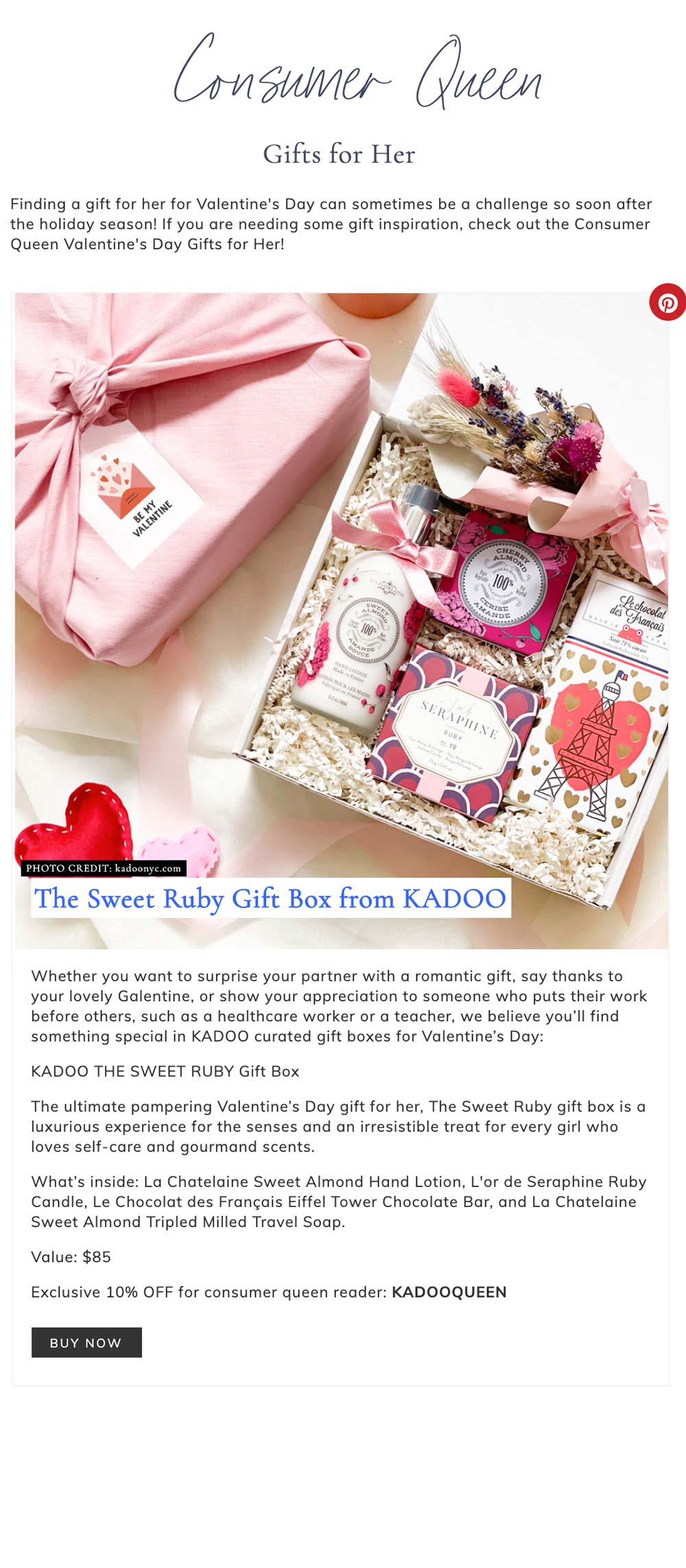 kadoo consumer queen valentine gift guide gift for her