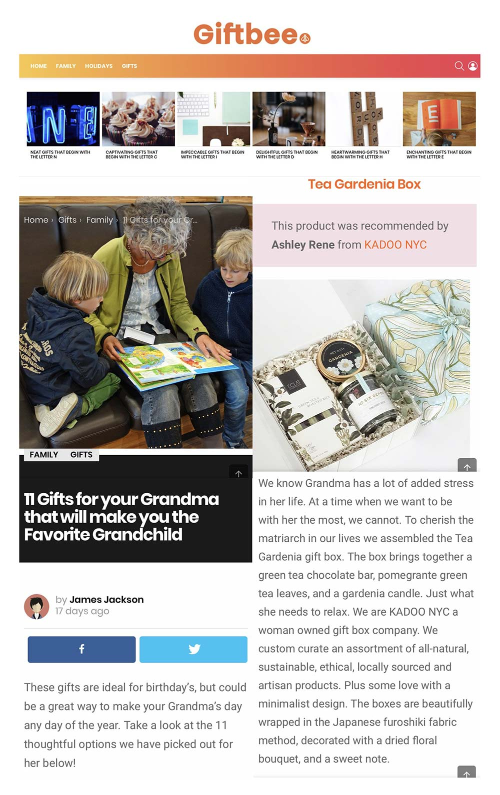 kadoo press giftbee gifts for your grandma that will make you the favorite grandchild