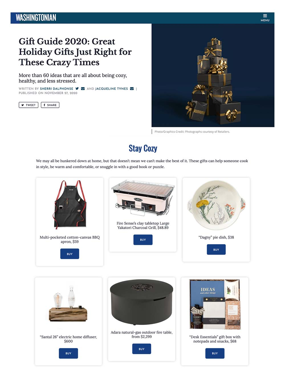 kadoo washingtonian magazine great holiday gift guide 2020 great ideas all about being cozy while hunkering down at home