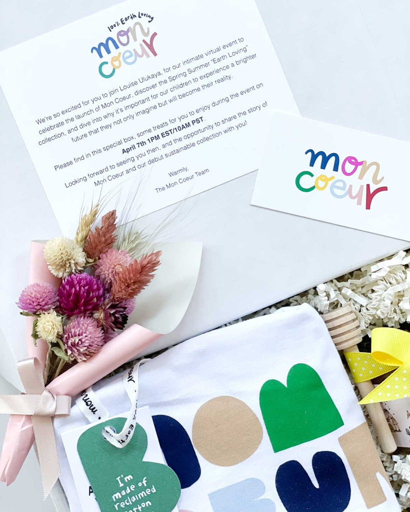 custom and personalize card for mon ceour corporate curated gift box