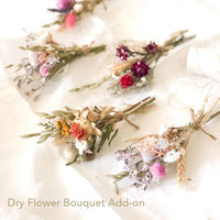Dry flower bouquet arrangement. Perfect add-on to elevate any gift box.