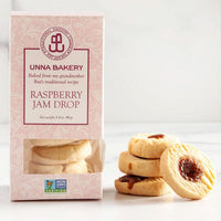 Unna Bakery Raspberry Jam Drop Cookies. Traditional Swedish Cookies.