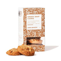 Unna Bakery Ginger Snap Cookies : Made with real butter, never palm oil, soy or preservatives, with flavors of a traditional Swedish holiday: ginger, clove, cinnamon, and almonds.