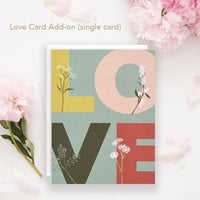 Love Notecard by June and December. Recycled card stock + envelopes made from 100% post-consumer waste. Made in USA