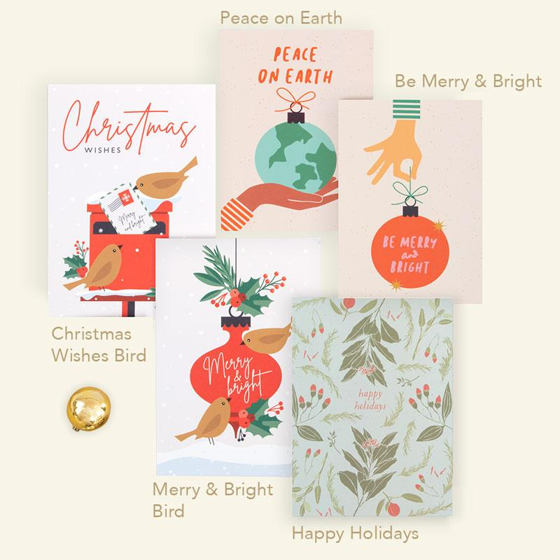 Happy Holidays Card by Graphic Factory. Printed on FSC paper and sustainable forest.