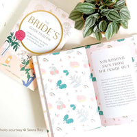chronicle books the bride's guide to glow book by tarren brooks. complete guide for glowing skin on your wedding.