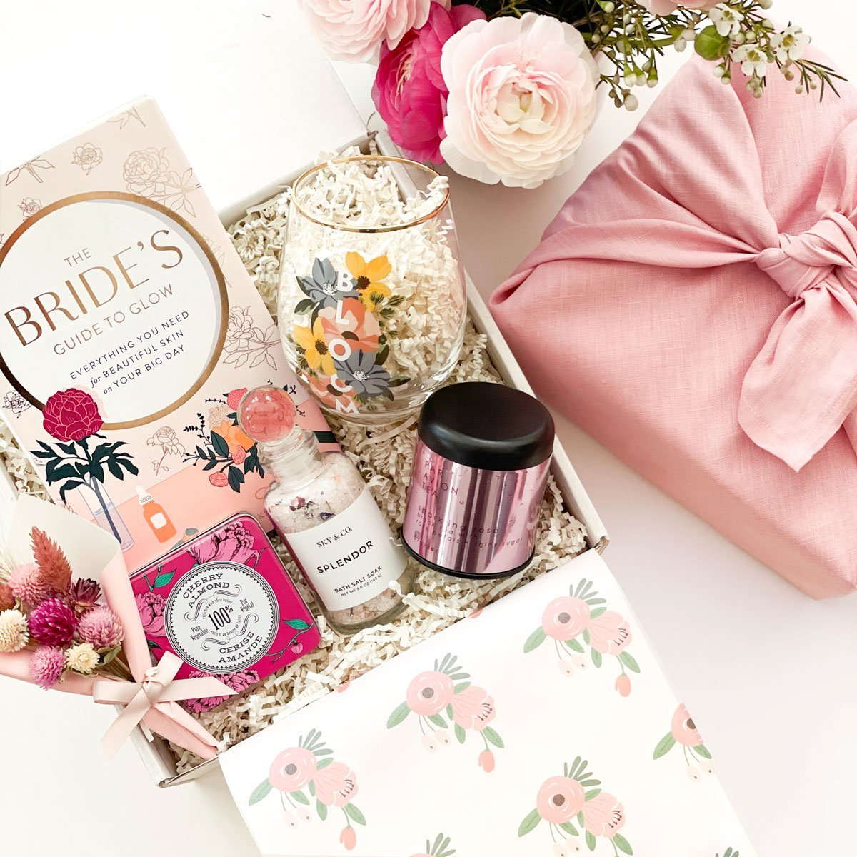 kadoo bride to be gift box. Perfect for the newly engaged and as a wedding party gift.