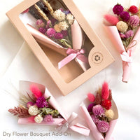 KADOO dry flower bouquet to compliment curated gift box.