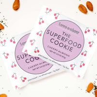 love chew the superfood cookie in cherry almond flavor. plant-based. no refined sugar. made in the U.S.A.