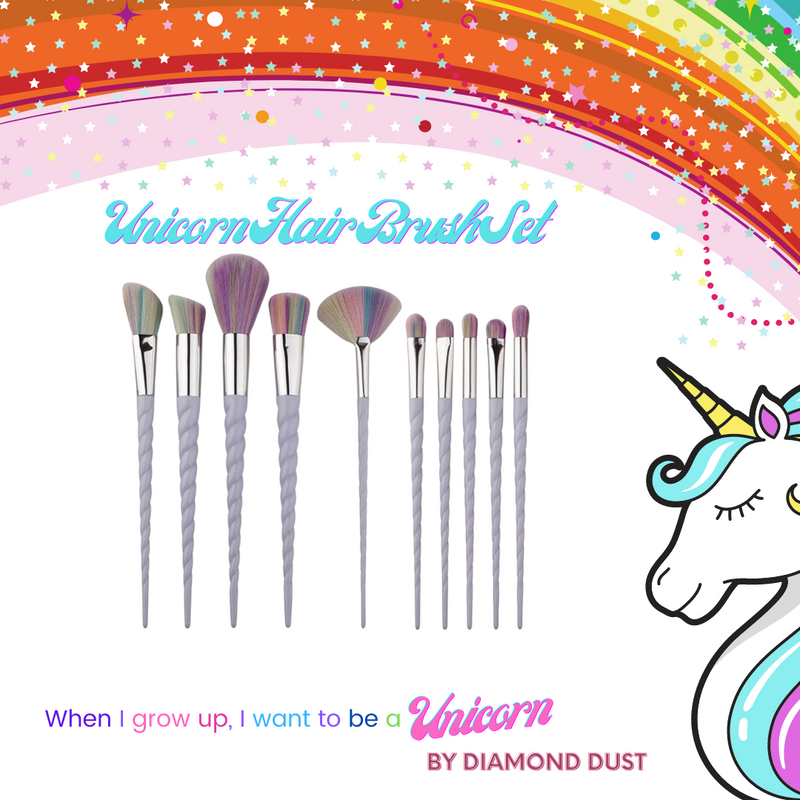 Unicorn Hair Brush Set