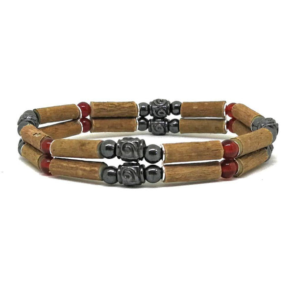 D22 | Hazel wood & red agate medieval style
