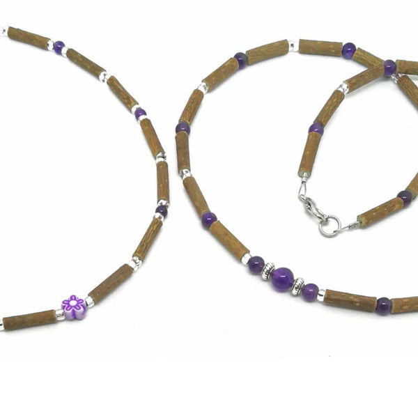 M17 | Hazel wood & amethyst set