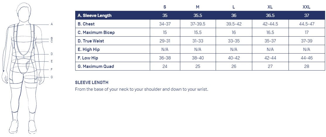 KETL Mtn Men's Sizing Chart