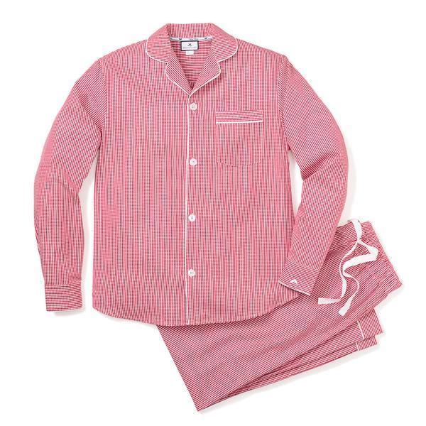 Petite Plume Adult Classic Pajamas, Red Gingham