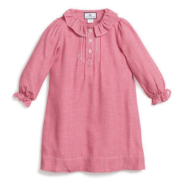 Petite Plume Victoria Nightgown, Red Gingham