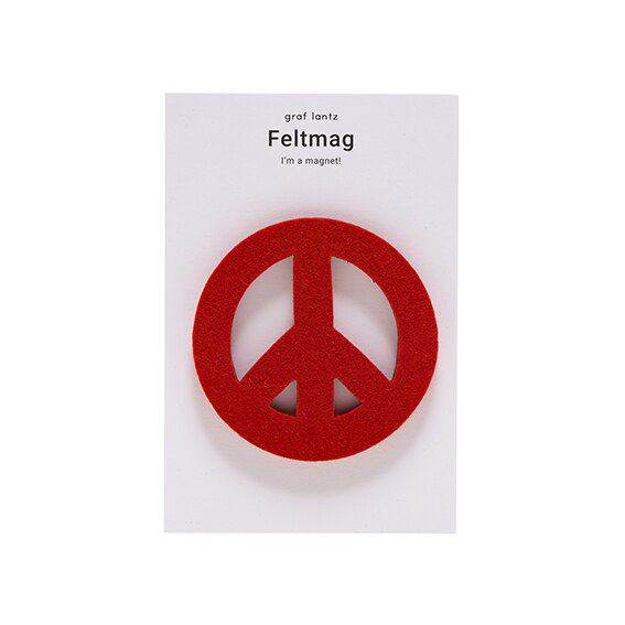 Graf Lantz Feltmag Peace Sign, Orange