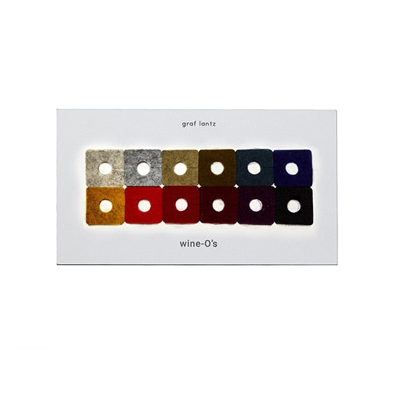 Graf Lantz Felt Square Wine-O's, Autumn Mix