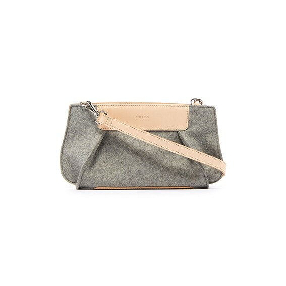 Graf Lantz Frankie Baguette, Granite Felt with Natural Leather