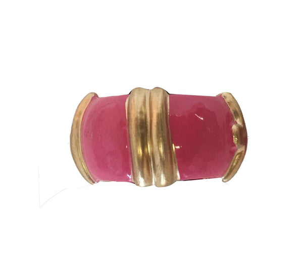 Bamboo Napkin Rings in Pink - Set of 4