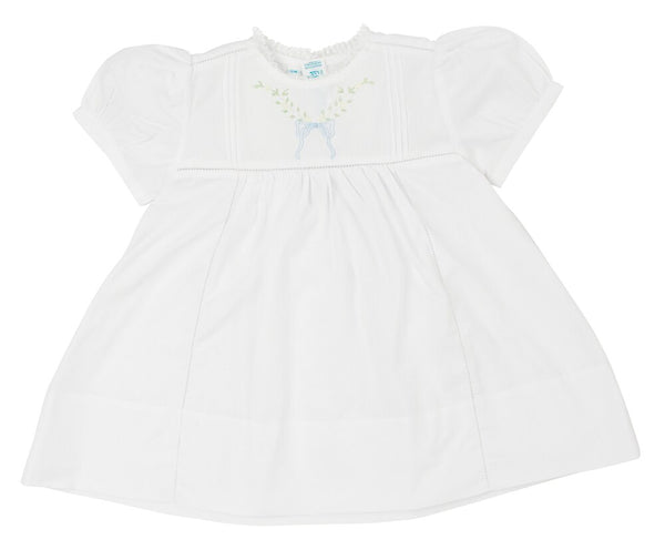 Feltman Brothers Leaf Bow Collection Dress in White