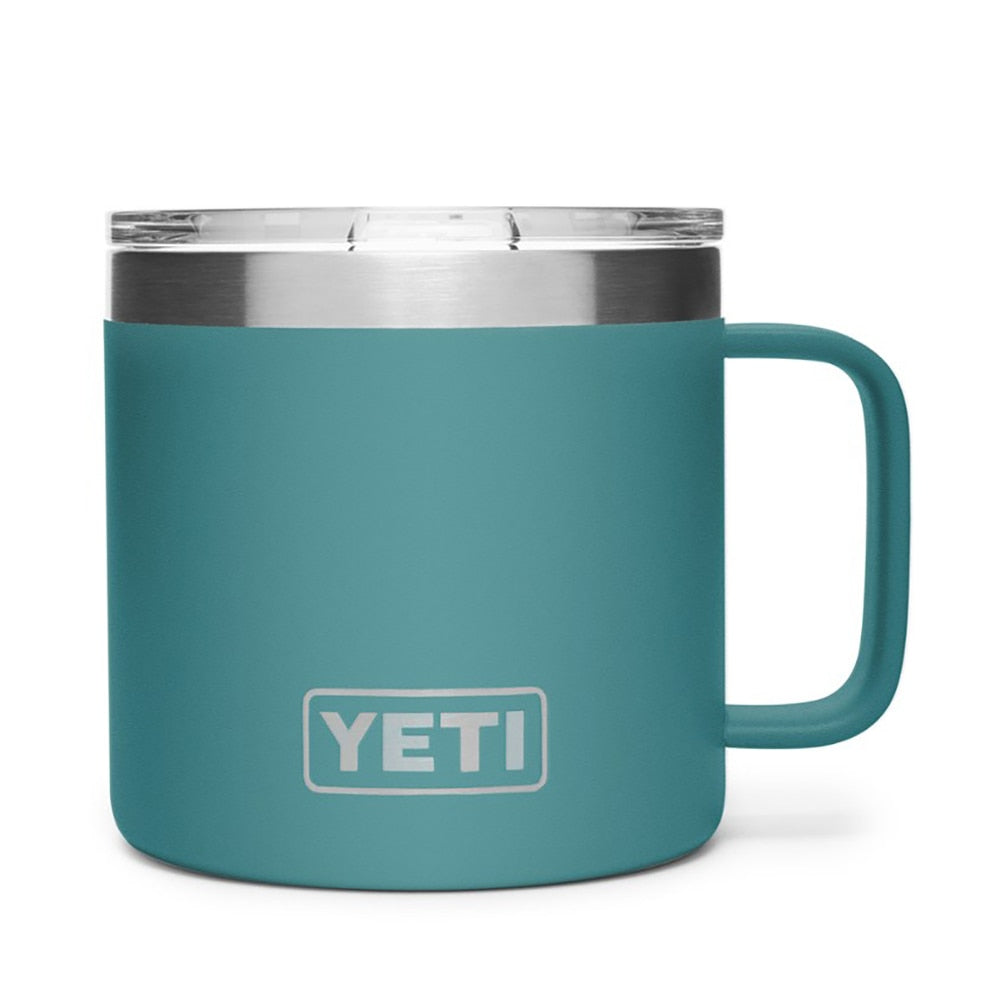 YETI Rambler - 14oz Mug, River Green