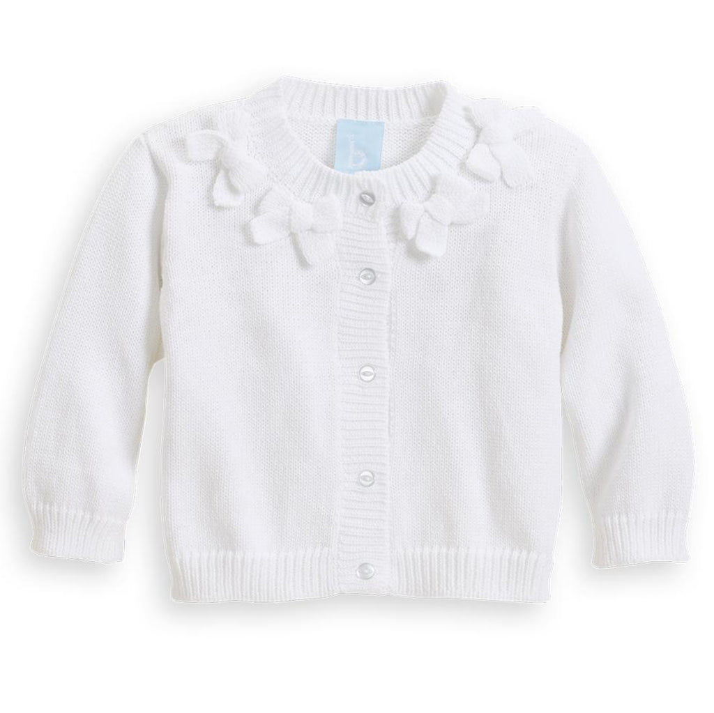 Bow Collar Cardigan White