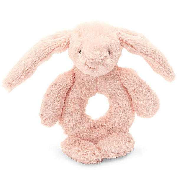 JellyCat Bashful Bunny Ring Rattle in Blush