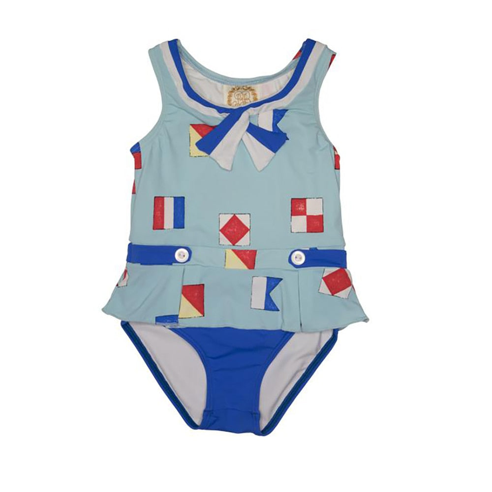 The Beaufort Bonnet Bridgehampton Bathing Suit New Street Nautical Flags with Rockefeller Royal