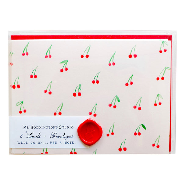 Boxed Greeting Cards - Cherries on Top