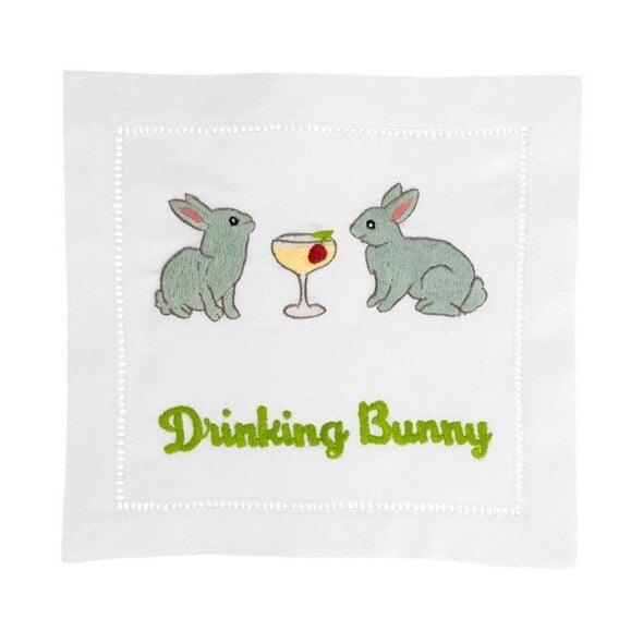 August Morgan Drinking Bunny Cocktail Napkins