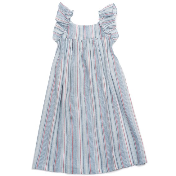 Bonton Girls Striped Dress