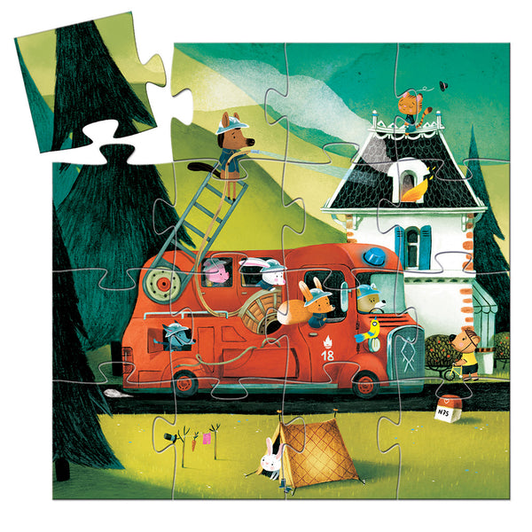 The Fire Truck Silhouette Puzzle