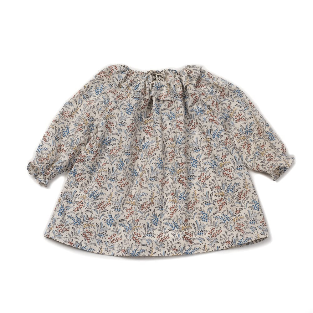 Bonton Baby Patterned Dress, Imp Melange