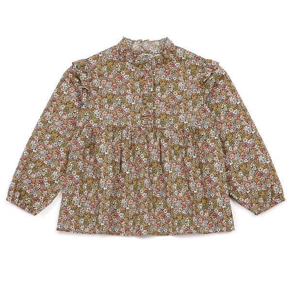 Bonton Floral High Collar Blouse