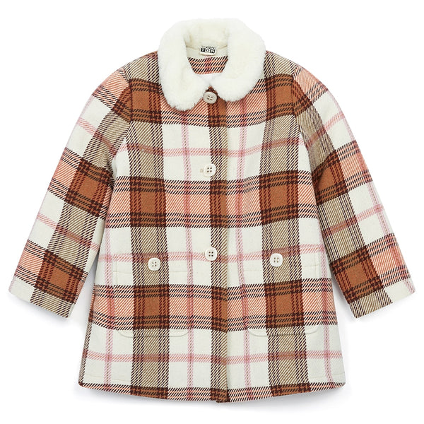 Bonton Rose Plaid Coat