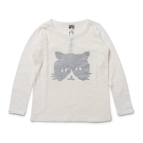 Cat Print T-Shirt Milkyway