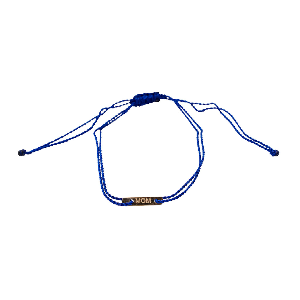 "ID ""MOM"" Bracelet, Navy"