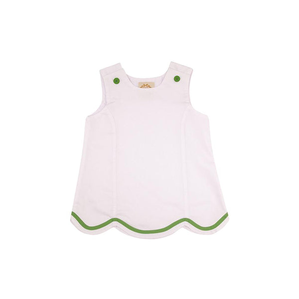 J.J. Jumper Worth Avenue White Pique with Grenada Green