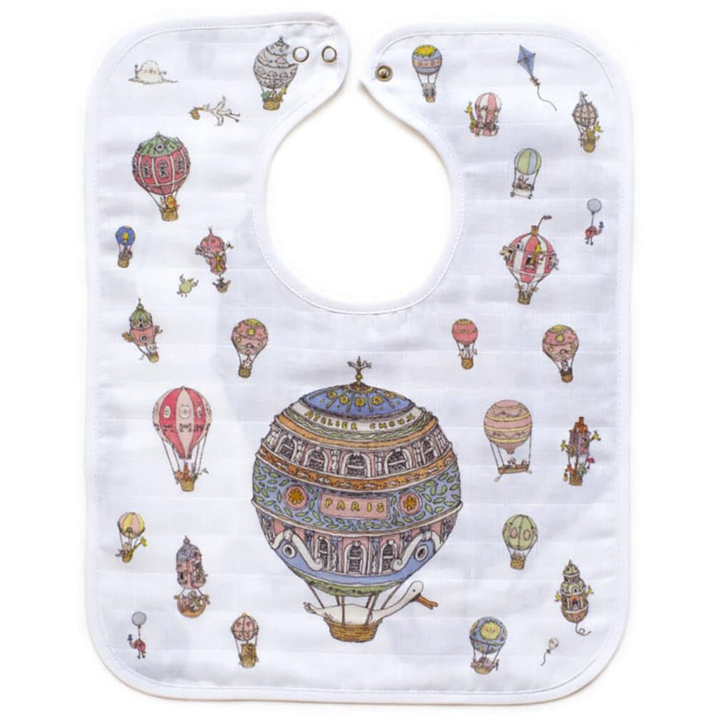 Atelier Choux Large Hot Air Ballons Bib
