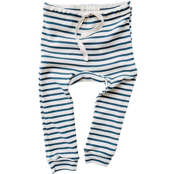 Organic Cotton Leggings - Natural/Azure