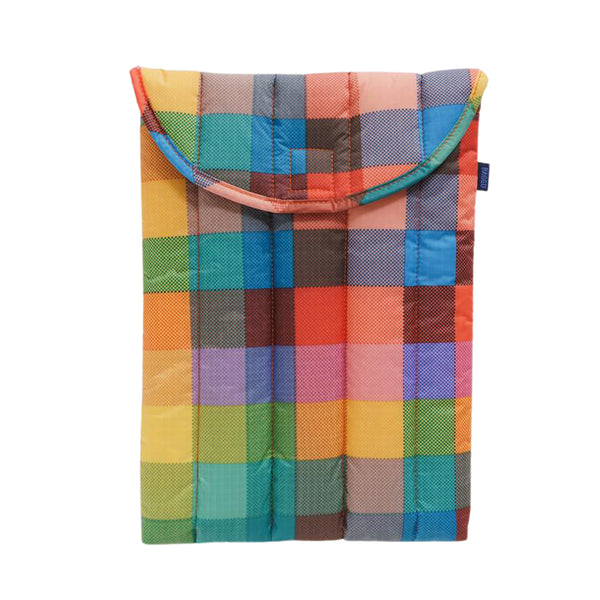 "Puffy Laptop Sleeve 13"" Madras No. 1"