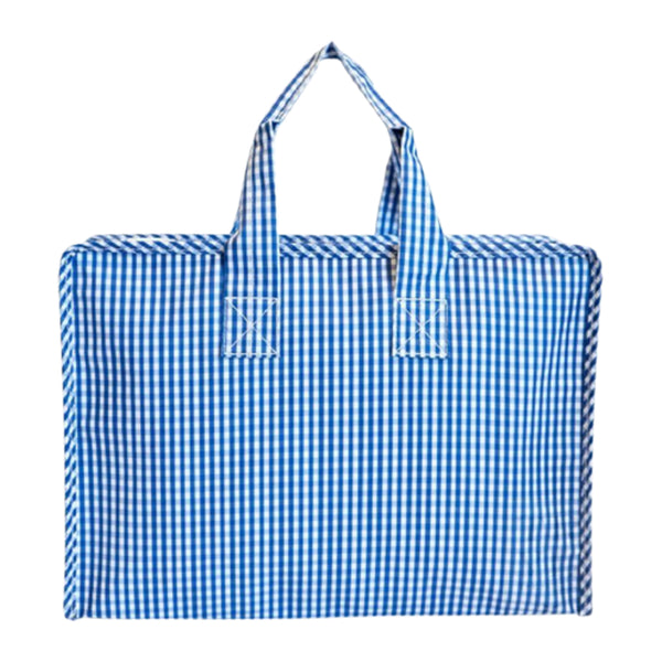 Gingham Market Tote with Monogram (multiple colors)