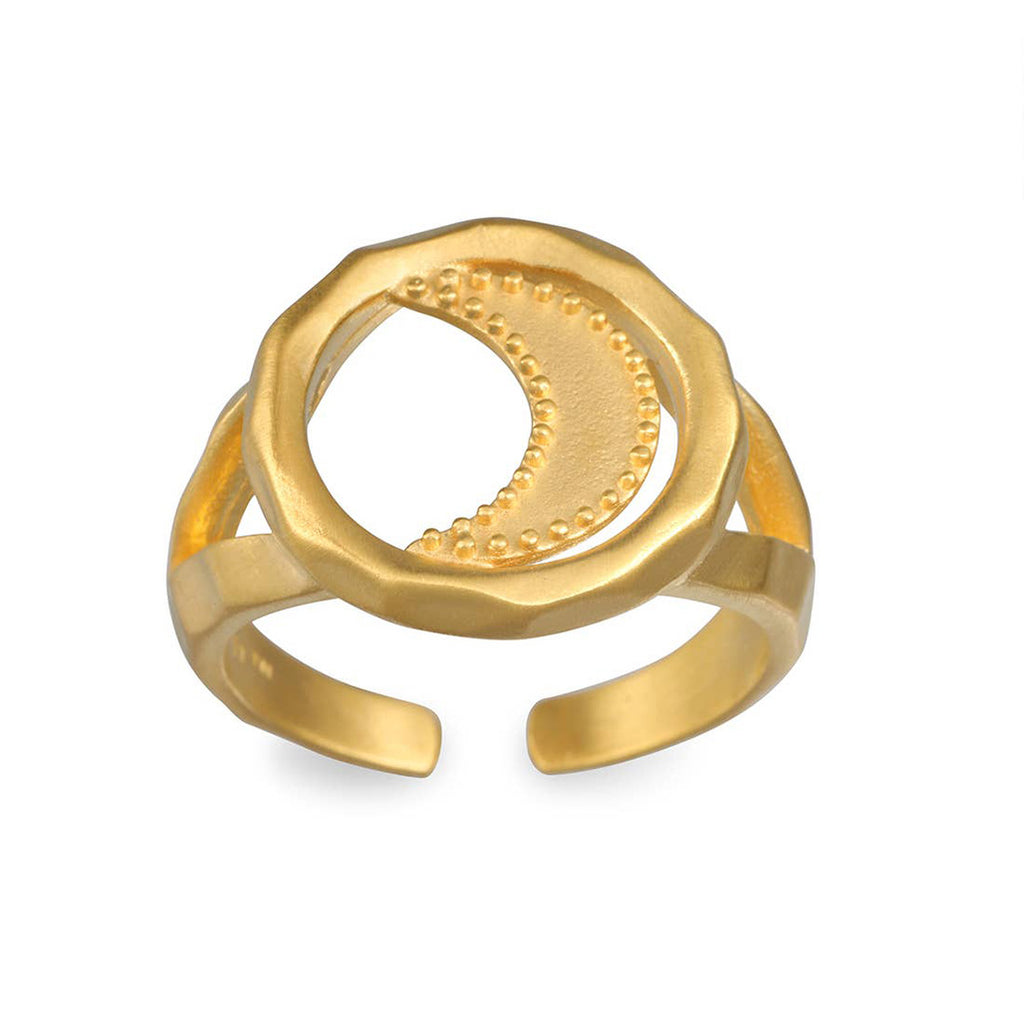 Gold Moon Adjustable Ring