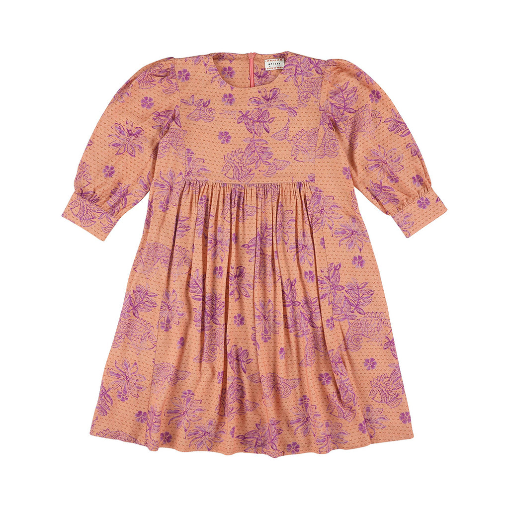 Lavender Fish Rose Dress
