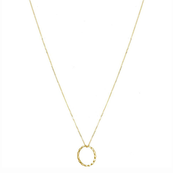 Trois Petits Points Navette Yellow Gold Necklace