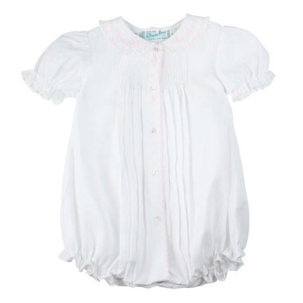 Feltman Brothers Scalloped Open Front Bubble in White