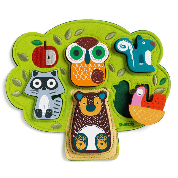 Djeco Wooden Puzzle, Oski