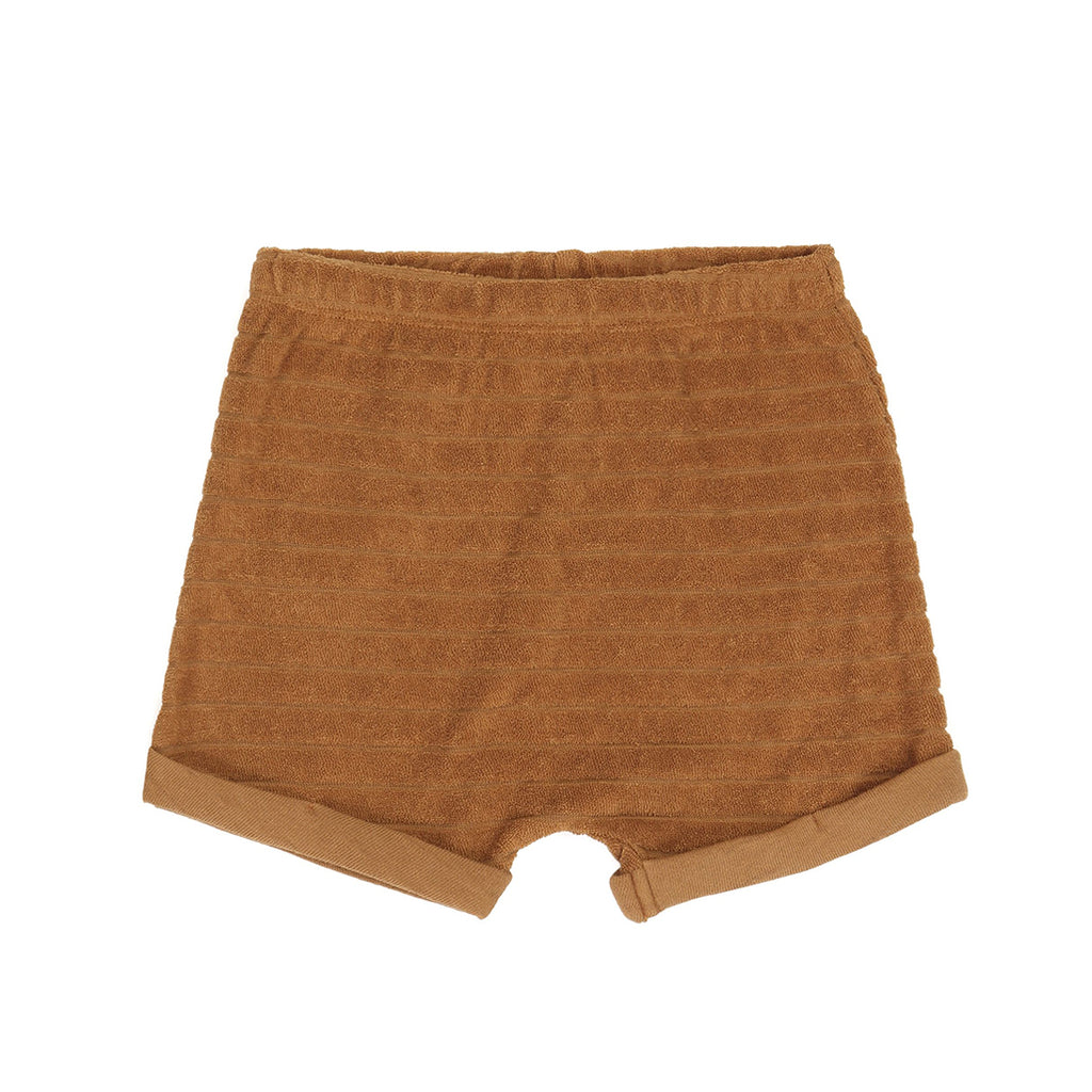 Striped Frotte Shorts Antique Brass